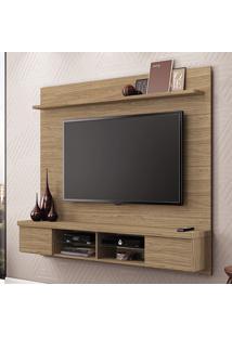 Painel Para Tv Esplendor Living 2001084 Nogueira - Mobler