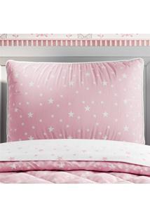 Capa Travesseiro Infantil Rosa/Branco Estrelas Grã£O De Gente Rosa - Rosa - Menina - Dafiti