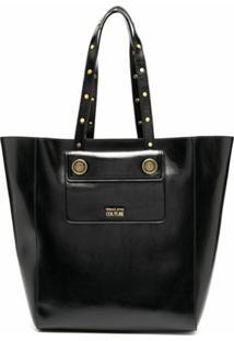 Versace Jeans Couture Bolsa Tote Com Logo Gravado - Preto