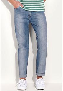 Calça Jeans Slim Masculina Hering Com Lavação Clara