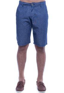 Bermuda Jeans Denuncia Casual - Masculino-Azul