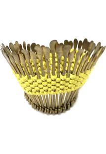 Porta Guardanapo Cocar Amarelo