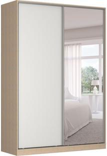 Guarda-Roupa Solteiro Com Espelho Tunas I 2 Pt 3 Gv Noce E Branco