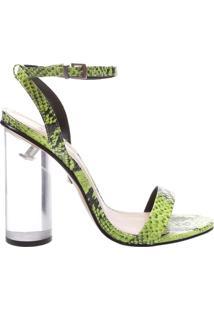 Sandália Salto Crystal Snake Neon | Schutz