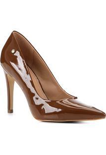 Scarpin Shoestock Salto Alto Naked - Feminino-Avelã