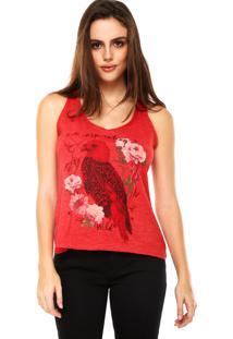 Regata Malwee Águia Floral Vermelha