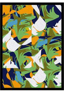 Quadro Com Moldura Formas Colorido (33X24)