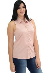 Camisa Energia Fashion Tricoline Rosa