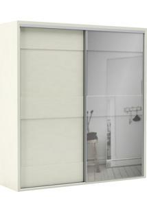 Roupeiro Casal Mdf 2 Portas Branco Espelho Dalla Costa