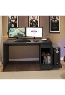 Mesa Para Computador Desk Gamer Drx 3000 Siena Móveis Preto