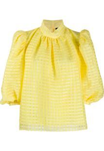Stine Goya Gingham Check Blouse - Amarelo
