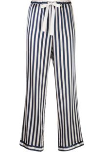 Morgan Lane Calça De Pijama Chantal Listrada - Preto