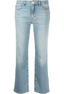 Love Moschino Calça Jeans Cropped - Azul