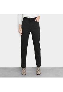 2b0538fcc1 Calça Jeans Reta Ellus Listra Lateral Barra Desfiada Cintura Média Black  Rock Elastic Feminina - Feminino