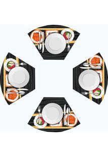 Jogo Americano Love Decor Para Mesa Redonda Wevans Sushi Kit Com 4 Pçs