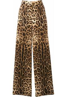 Dolce & Gabbana Calça Com Estampa Leopardo - Marrom