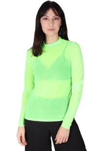 Blusa Superfluous Tule Neon Verde