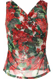 Dolce & Gabbana Blusa De Seda Estampada - Estampado