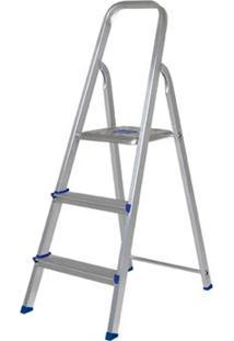 Escada Mor, Doméstica, 3 Degraus, Aluminio - Pedido Especial