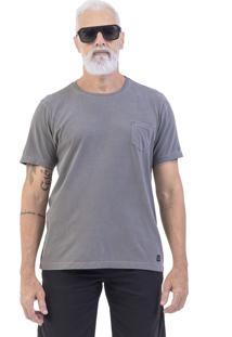 Camiseta Won Oficial Estonada Com Bolso Cinza Escuro