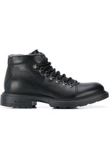 Baldinini Ankle Boot Com Cadarço - Preto
