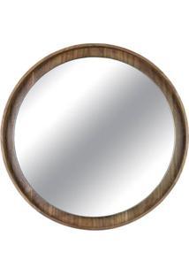 Espelho Martis Moldura Revestido Em Lamina Nogueira 65 Cm (Larg) - 43561 - Sun House