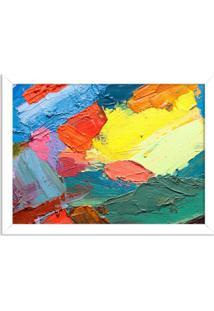 Quadro Decorativo Abstrato Moderno Colour Branco - Grande