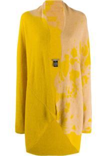 Suzusan Cardigan Tie-Dye De Cashmere - Amarelo