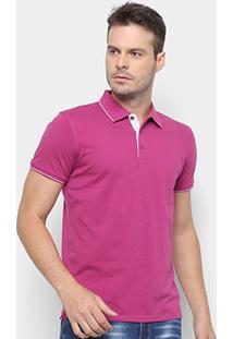 Camisa Polo Watkins&Krown Elastano Masculina - Masculino-Roxo