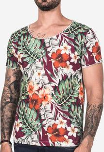 Camiseta Tropical Vinho 102449