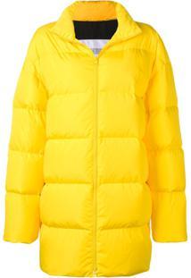 Calvin Klein Jeans Est. 1978 Jaqueta Matelassê Com Logo - Amarelo