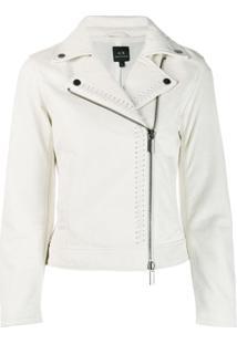 Armani Exchange Biker Jacket - Branco
