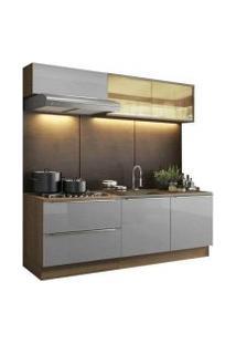Cozinha Completa Madesa Lux Com Armário E Balcão 5 Portas 2 Gavetas Rustic
