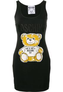 Moschino Vestido Teddy - Preto