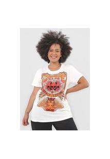 Camiseta Colcci Sunshine Gang Off-White