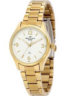 Relógio Feminino Backer Analógico 10264145F - Unissex-Dourado