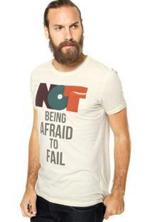 Camiseta Benetton Not Being Afraid Bege