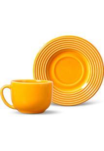Conjunto 12Pçs Xícaras De Chá Porto Brasil Argos Amarelo