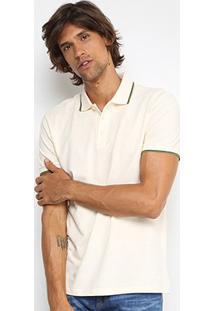 Camisa Polo Forum Piquet Frisos Color Masculina - Masculino-Off White