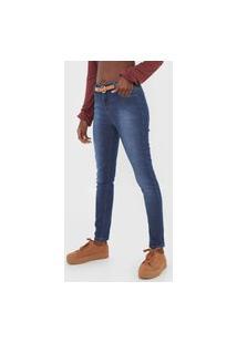 Calça Jeans Hering Skinny Estonada Azul