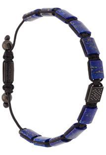 Nialaya Jewelry Bracelete 'Flatbead' - Azul