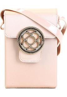 Bolsa Petite Jolie Mini Bag Alça Transversal Shiloh Bag Club Feminina - Feminino-Bege Claro