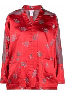 Comme Des Garçons Comme Des Garçons Jaqueta Com Estampa Floral - Vermelho