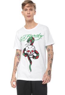 Camiseta Ed Hardy Skull & Snake Branca