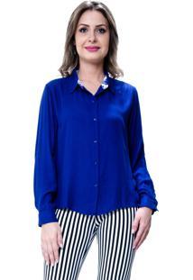 Camisa 101 Resort Wear Lisa Viscose Azul