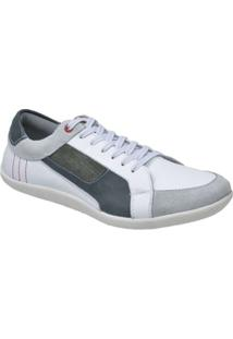 Sapatênis Couro Youth Class Urban Fly Masculino - Masculino-Off White