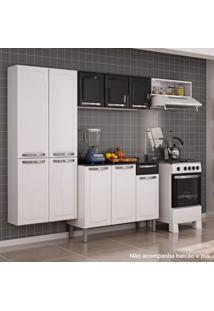 Cozinha Compacta Sem Balcão Aço Rose Itatiaia Branco/Preto