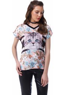 91d3c88446 ... T Shirt Angel Manga Curta Pets Preta