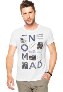 Camiseta Malwee Estampada Branca