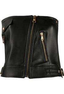 Versace Sleeveless Biker Waistcoat - Preto
